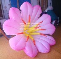 꽤 매달려 핑크 풍선 백합 꽃 LED 가벼운 장식 공기 아침 영광