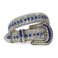 소년들을위한 패션 블링 혈관 어린이 벨트 럭셔리 다채로운 다이아몬드 유아 가죽 벨트 공급 업체