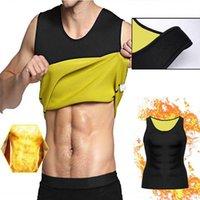 Men's Body Shapers Mens Gym Neoprene Vest Sweat Sauna Shaper Thermo Waist Trainer Corset Shirt Slimming Suit Weight Loss Black Shapewear