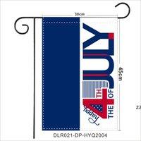 ABD Bağımsızlık Günü Pongee Bahçe Bayrağı 30 * 45 cm Mutlu 4 Temmuz Açık Bahçe Asılı Bayrak Gnomes Tasarım Bahçe Banner HWF8406
