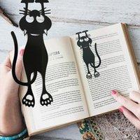 Bookmark 1pc Cute Kawaii Hollow Kitten Plastic Black Book Supplies For Student Kid Gift S W2f3