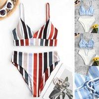 Women's Swimwear Women Stripe Print Bikini Set Summer Brazilian Push Up Beachwear Biquini Swimsuit Bathing Suit Biquínis #T1Q