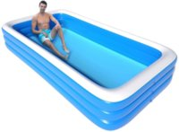 Outdoor Inflatable Swimming Paddling Pool Yard Garden Family Kids Play Large Adult Infant Swimming Pool Child Ocean Pool 1.5m, 1.8m, 2.1m, 2.6m, 3m, 3.88m, 4.28m