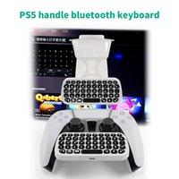جديد لوحة المفاتيح اللاسلكية PS5 تحكم مقبض PlayStation5 Chatpad خارجي لوحات المفاتيح بلوتوث الخارجية
