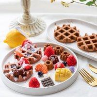 Backformen Silikon Waffelform DIY Mini Donut Maker Handgemachte Kerze Dessert Dekoration Material Moule Chocolat Eb50HF