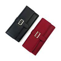 Wallets 2021 Ms Women Log Wallet KoreanTri-fold Purse Belt Decoration Phone Bag Fashion Designer Leather Money