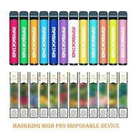 Maskking High Pro Disposable Vape Pen Pod Device starter Kit MK e cigarette 1000 puffs Russsian English verion Air Bar BANG XXL PUFF