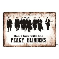 Peaky Blinder Signe métallique Affiche rétro métallique en métal Signe Cinéma Cafe Bar Club Garage Garage Jardin Vintage Mur Mur Film Star FWB6145
