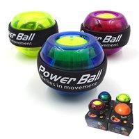 Trainer de bola de muñeca LED Girroscopio Fortalecimiento Gyro Power Ball Brazo Ejercitador Powerball Ejercicio Máquina Gimnasio Equipo de fitness Alta Calma