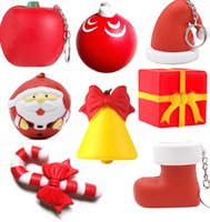 Decompression Toy Kawaii Christmas Slow Rising Simulation Xmas Squishy Toys Anti Stress Reliever Soft Squeeze Gift Keychain Z3773