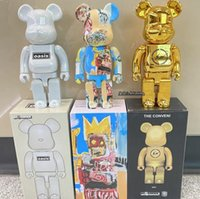absolutely 400 28cm bearbrick bear figures toy movie games for collectors berbrick kaws art work abs material model decoration toys gift