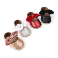 أول مشوا الاطفال الطفل بنين بنات فرك الجلود لينة وحيد bowknot الأحذية عارضة المشي الصلبة أحذية رياضية عدم الانزلاق ووكر ذ