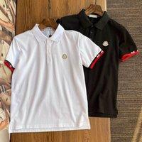 2021 Tasarımcı T Gömlek Yaz Avrupa Paris Polos Amerikan Yıldız Moda Erkek Tişörtleri Yıldız Saten Pamuk Polo Rahat T-shirt Kadınlar Mans Tees Siyah Beyaz