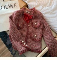 Small Fragrance Jacket Female Autumn And Winter High Quality Ladies All-match Tassel Retro Tweed Knitted Cardigan Women Coat Women's Jackets
