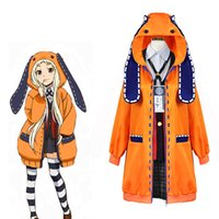 robe anime kakegurui yomoduki rune avec sweat à capuche yumeko jabami cosplay costume japonais école uniforme