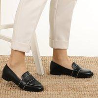 최고 품질의 미오 Gusto 브랜드 로빈, 블랙 / 탄 / 스킨 컬러, 2cm 로우 힐, 훌륭한 품질의 편안한 캐주얼 여성의 로퍼 신발