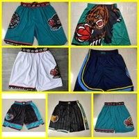 Apenas don homens memphisGrizzliesnba.Calções de basquete 1995-96 shorts jr morant bibby autêntico costurado calças retrô clássico