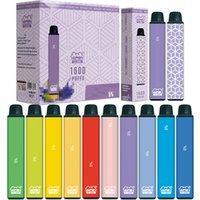 정통 Vapen 큐브 1600 퍼프 일회용 vape 펜 키트 전자 담배 스타터 650mAh 배터리 5.5ml 용량 휴대용 브랜드 기화기 미리 채워진 막대기 증기