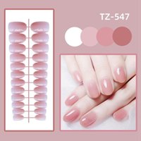 False Nails Jelly Color Manicure Tool Nail Tips Artificial Fake Wearable Short Round Head With Press Glue