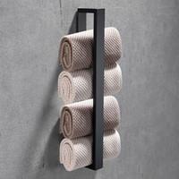 Porte-serviettes 40cm salle de bain en acier inoxydable gant de toilette Facecloth accessoires noirs racks