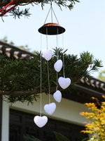 Lámparas solares 6-EVA-amor Linterna Viento Chime LED Cambio de color Decoración del jardín