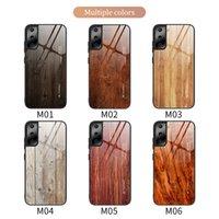 Holzkornglas-Telefon-Hüllen für iPhone 12 11 Pro Promax X XS MAX 7 8 PLUS SAMSUNG S21 S20 Note20 Note10