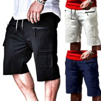 Men's Shorts VICABO Men Drawstring Multi-pocket 2021 Fashion Summer Beach Casual Sports Short Pants Mens Clothing