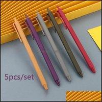 Writing Supplies Business & Industrial5Pcs Set Retro Pure Neutral Pen Advertising Kawaii Pens Custom Logo Kids Gift Ballpoint Signature Scho