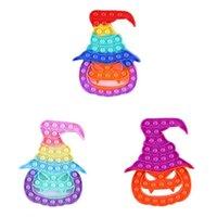 Decompression toys Sensory Push it bubbles Fidget Colorful Halloween pumpkin shape Feature Popper Bubble fingertips Gifts for children