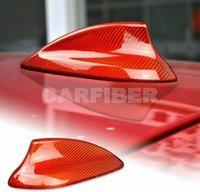Rote Kohlefaser-Auto-Haifisch-FIN-Antennenabdeckung Trim-Funksignal-Basis für BMW 1-Serie F20 F21 2 Serie F45 F46 X1 F48 X2 F39 X4 F26 Zubehör