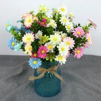Artificial Fake Flowers 15 Heads Mini Daisy Chrysanthemum Bo...
