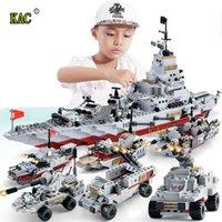 KAC 1000+ шт. PCS военные военные кораблевые военно-морские судны армейские фигуры строительные блоки армии военные корабли строительные кирпичи детские игрушки