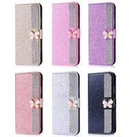 Strass Butterfly Butterfly Wallet Flip Leather Capa Para S20 Ultra S10 S9 S8 PLUS S7 S6 Edge S5 Nota 20 10 Lite 9 8 Capas Celulares