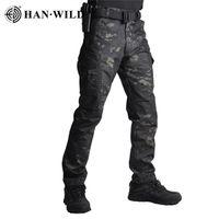 Han Vahşi Taktik Pantolon Kamuflaj Askeri Rahat Savaş Ordusu Kargo Joggers Yürüyüş Pantolon Su Kovucu Yırtılmaz 4XL Pantolon X0626