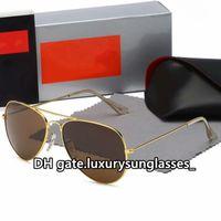 Occhiali da sole per uomini Donne 2021 Telaio in metallo 3025 Classic Designer Vintage Designer di lusso Aviatore di lusso PILOT Ciclismo Guida di movimentatori Modo Eyewear Accessori Gafas de Sol