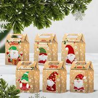أكياس هدية عيد الميلاد سانتا أكياس كرافت ورقة حقيبة أطفال حزب الحسنات مربع الإبداعية الأطراف لصالح لوازم الديكور DWB9131