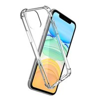 Transparent Shockproof TPU Acrylic Hybrid Armor Hard Cases Clearfor iPhone 13 12 11 Pro X XS Max 8 7 Plus Samsung S20 S21 Note 20 Ultra Luxury Protective Cover