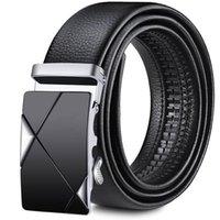 Belts Mens Leisure Belt Dress Suit Concise PU Leather Waist Strap Jeans Accessories Automatic Slid Buckle Cinto 3.5cm Black 14 Styles