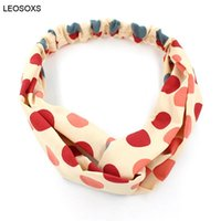 Hair Accessories For Women Printed Headband Korean Color Dot...