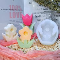 Craft Tools DIY Simple Flowers Handmade Soap Epoxy Resin Molds Scented Aromatic Candle Making Silicone Mould For Gifts Home Decor Supplies