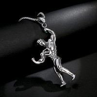 Humanoid Men's Pendant Cool Stainless Steel High Quality Jewelry Boys Trendy Decorative Necklace Non Fading Brave Chain Handsome Necklaces