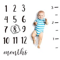 0-12M Baby Milestone Manta Mantas Mantas Mantas Mantas Newborn Soft Photography Props Fondo Manta Alfombra1 998 V2