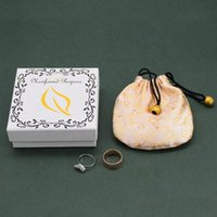Wholesale 500pcs lot Boxes Logo Gift Earring Necklace Ring Jewelry Box With Custom Printed Pouches, Bags