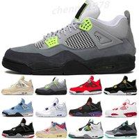 Top Jupman 4 4S أحذية كرة السلة للرجال 2021 ما الأسود القط الكاو الرعد الشتاء الموالية مصمم الأزرق رياضة أحذية رياضية الحجم 7-13 C33