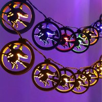 Halloween String Light 3M 20 Bulbs Hanging Bat skull witch spider Net Pendant Decor Strings Trick Or Treat Party Supplies D2.0
