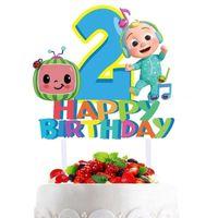 Cocomelon Baby Family Cake Plug аксессуары для детей милый мультфильм JJ мальчики с днем рождения до 1/2-летней партии украшения большой флаг для детей G404JVP