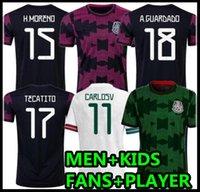 Мексика футбольные трикотажные майки COPA AMERIA CAMISETAS 20 21 CHICHARITO LOZANO DOS SANTOS MORENO ALVAREZ GUCKADO 2021 футбольные футболки мужские + детские набор фанатов