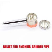 Kugel rotierende Rohrstift E-Zigarette-Stil 2 in 1 Tabakschleifer Metallkräuter-Kräuter-Schleifmaschinen Raucher-Zubehör-Herbal-Verdampfer-Kit