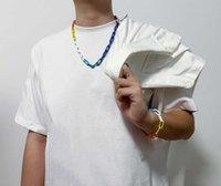 Puños de moda Diseñador de lujo Amor Pulsera de alta calidad Silver Titanium Hombres Personalidad Joyería Suministro