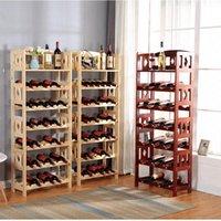 Tabletop Wine Racks Multi-Tier Rosewood Solid Wood Bottle Holder Display Storage Stand Beer Glass Stable & Elegant Organizer